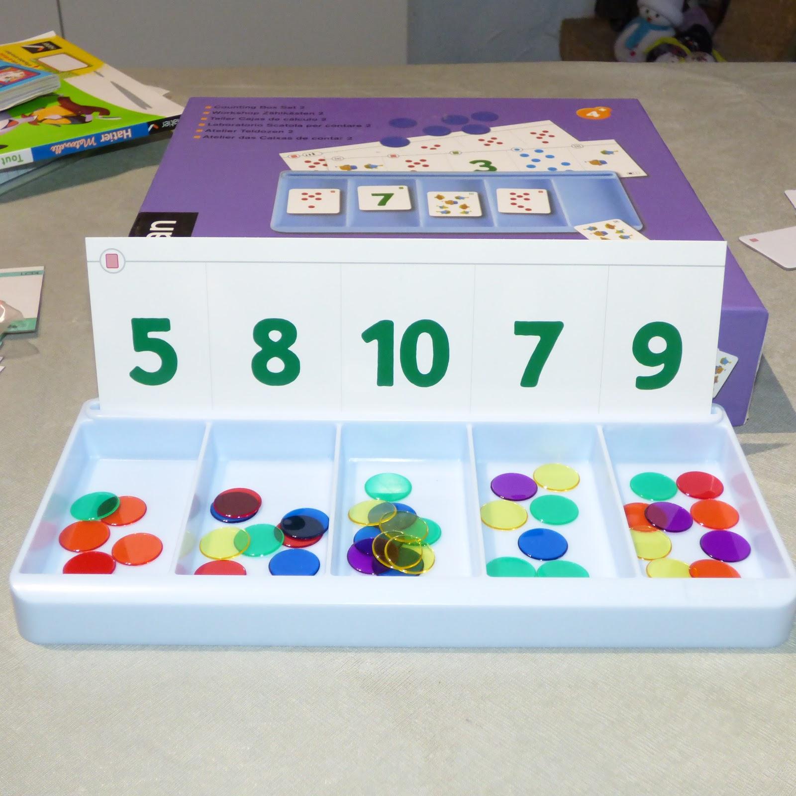 Les Boîtes À Compter De Chez Nathan - Petits Génies En Herbe serapportantà Apprendre A Compter Maternelle
