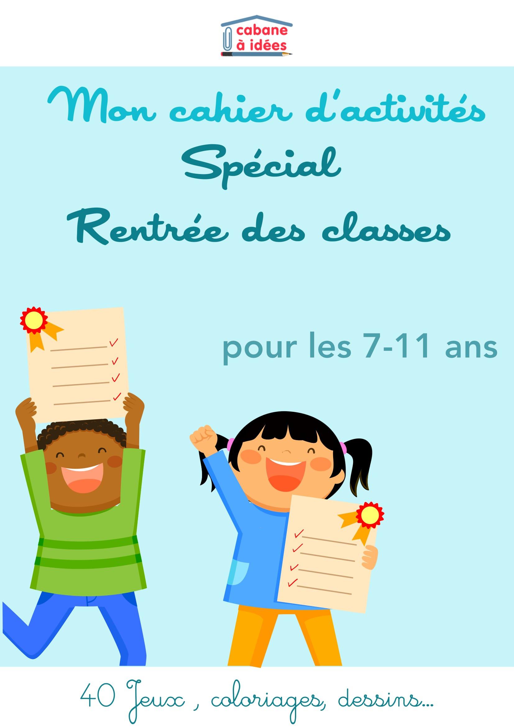 Les Cahiers D'activité Spécial Rentrée Scolaire - Cabane À Idées destiné Cahier D Activité Maternelle