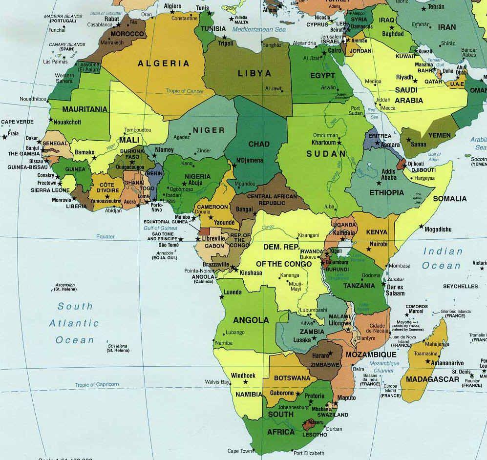 Les Capitales D'afrique - Ondinecultureg encequiconcerne Carte D Europe Avec Les Capitales