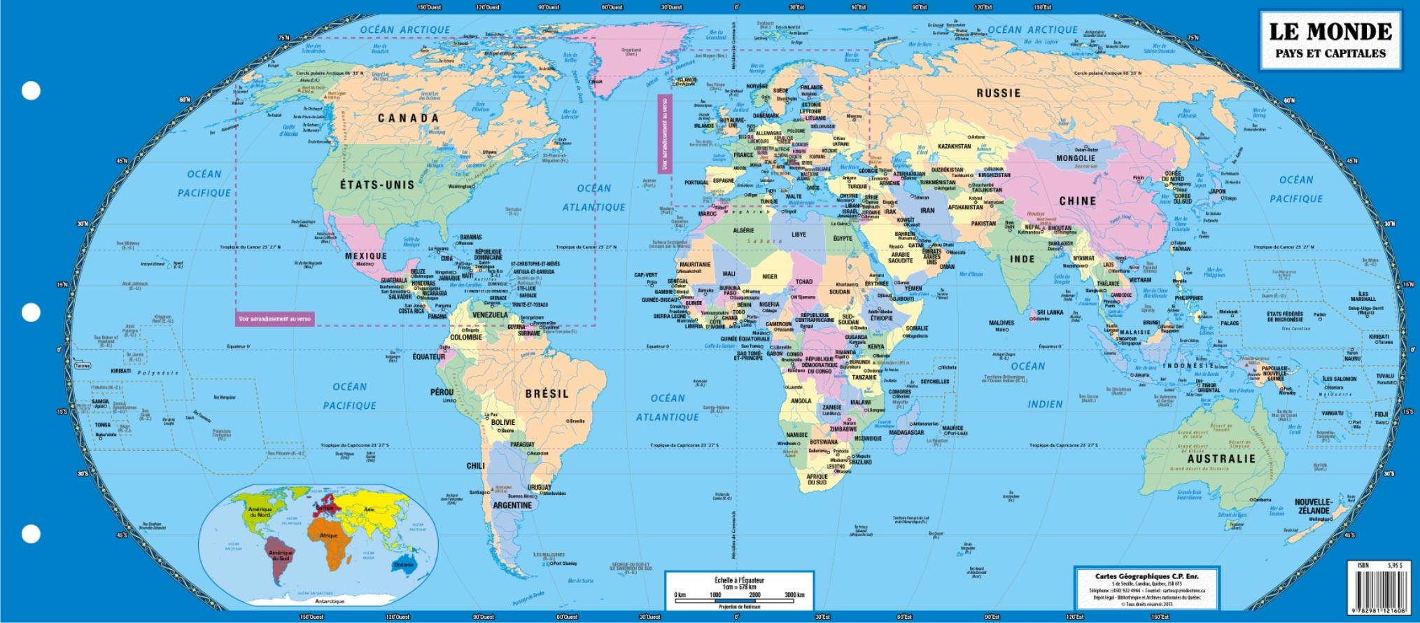Les Capitales Du Monde » Vacances - Arts- Guides Voyages serapportantà Carte Du Monde Avec Capitale