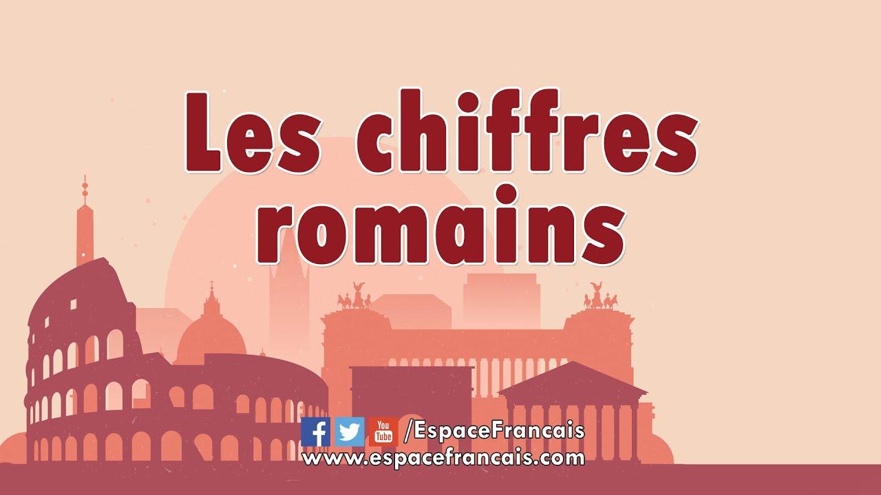 Les Chiffres Romains - Espacefrancais serapportantà Dessin Chiffre Romain