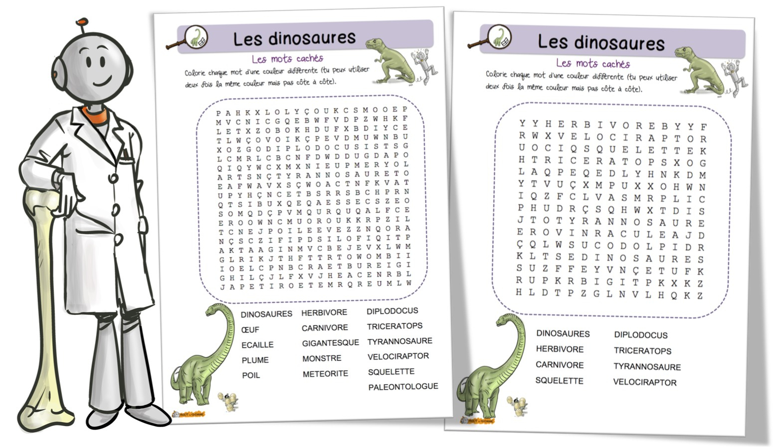 Les Dinosaures : Mots Mêlés | Bout De Gomme dedans Mots Croisés Ce1 À Imprimer