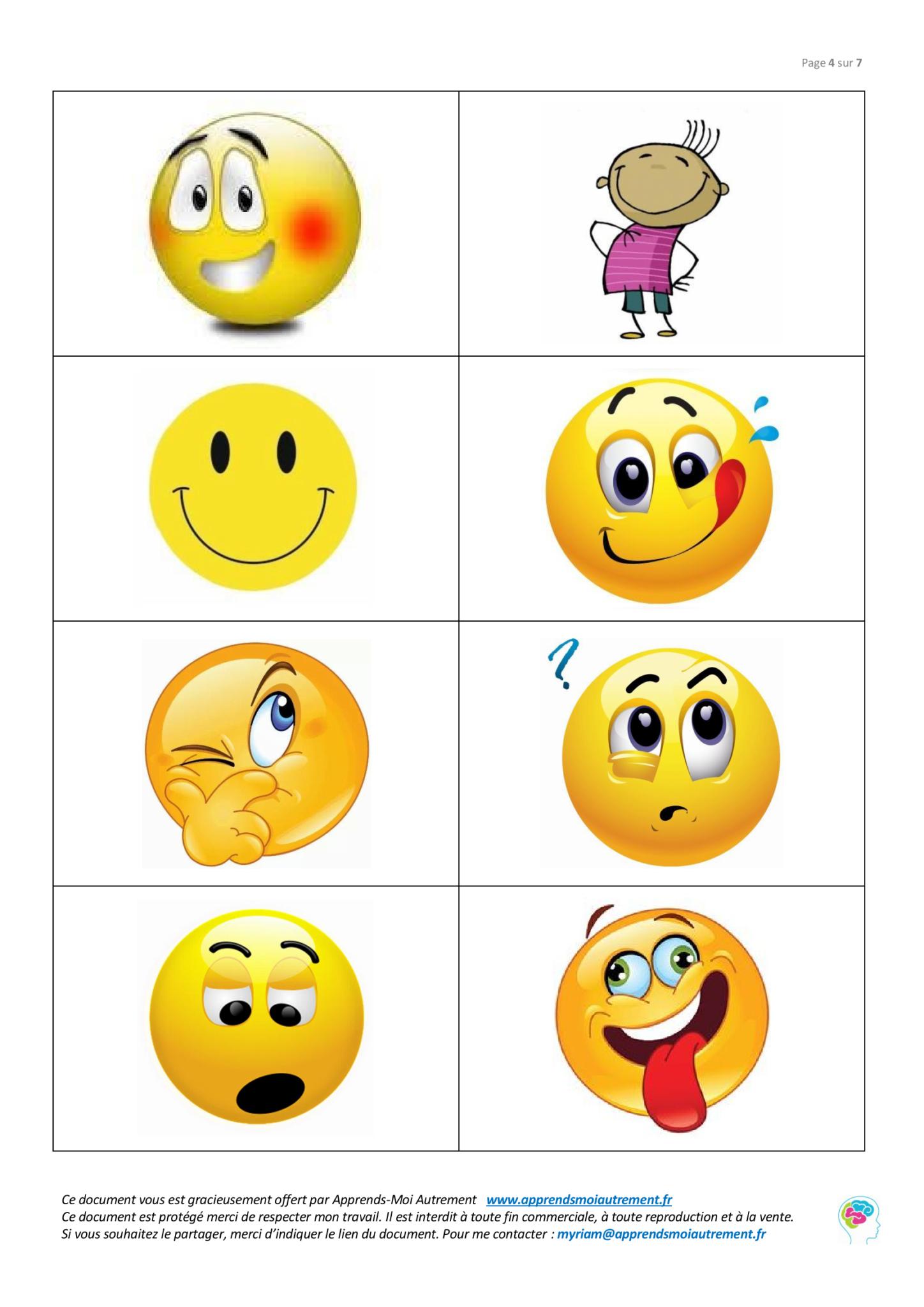 Les Émotions En Anglais - Apprends-Moi Autrement tout Jeu En Anglais À Imprimer