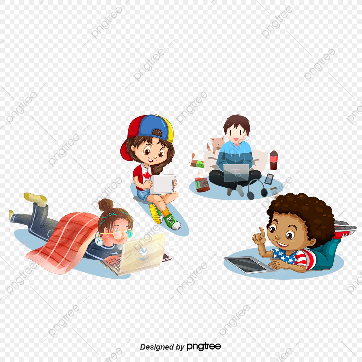 Les Enfants Jouer Avec L'ordinateur, Dessins D'enfants, L pour Telecharger Jeux Bebe Gratuit