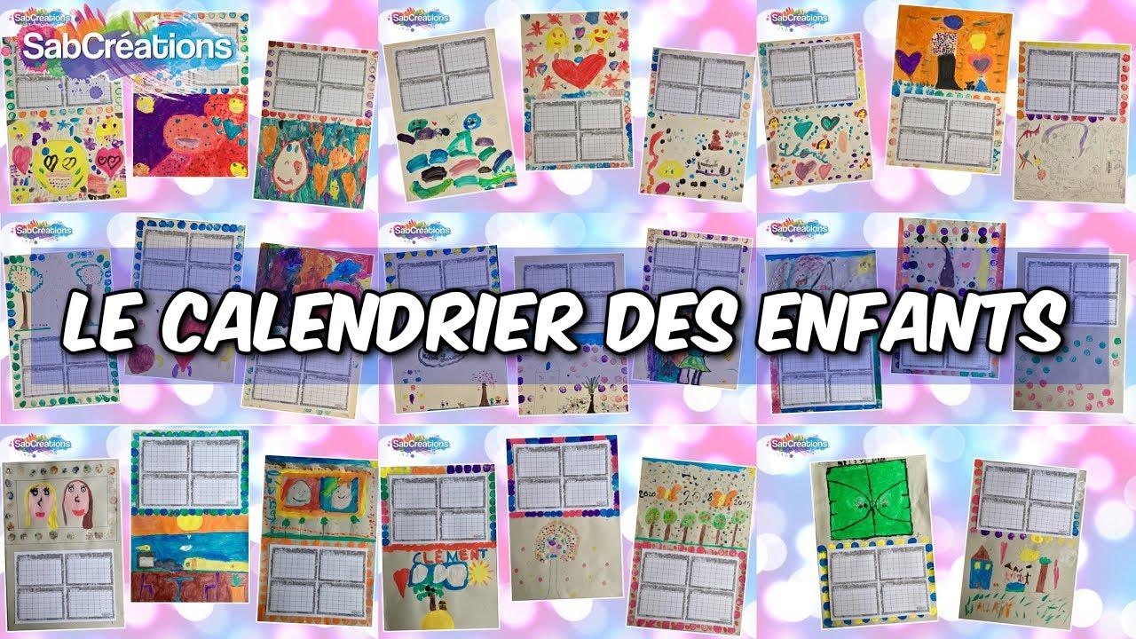 Les Enfants Réalisent Leurs Calendriers 2018 📆 Atelier Peinture 🎨  Sabcreations avec Calendrier 2018 Enfant
