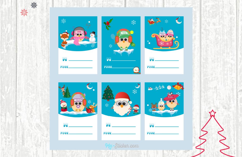 Les Étiquettes De Noël À Imprimer ⋆ Blog My Sticker avec Etiquette Noel A Imprimer
