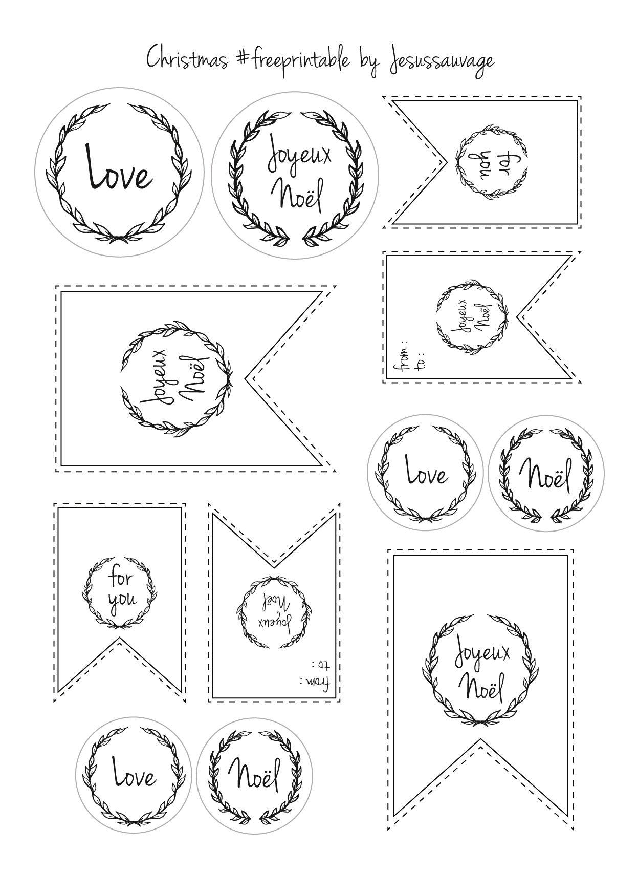 Les Étiquettes Gratuites De Noël À Imprimer | Etiquettes avec Etiquette Cadeau Noel A Imprimer Gratuitement
