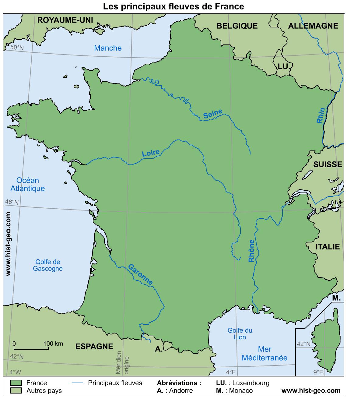 Les Fleuves Français | Fleuve Francais, Fleuve De France Et intérieur Les Fleuves En France Cycle 3