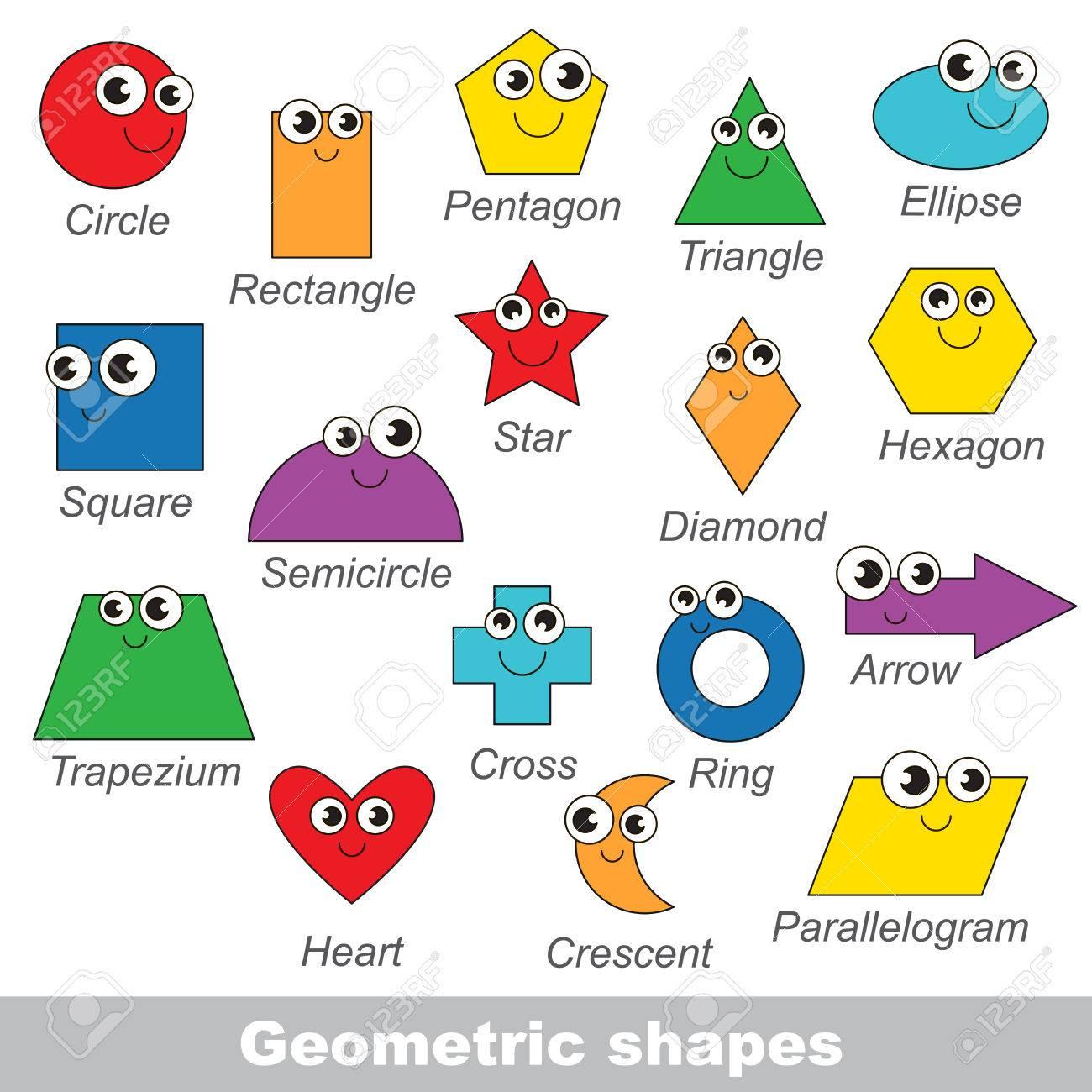 Les Formes Géométriques Définies Dans Le Vecteur, La Version Colorée. dedans Les Formes Geometrique