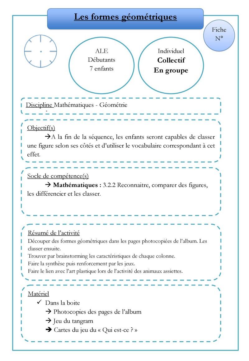 Les Formes Géométriques | Module Optionnel Fle/interculturel avec Les Formes Geometrique