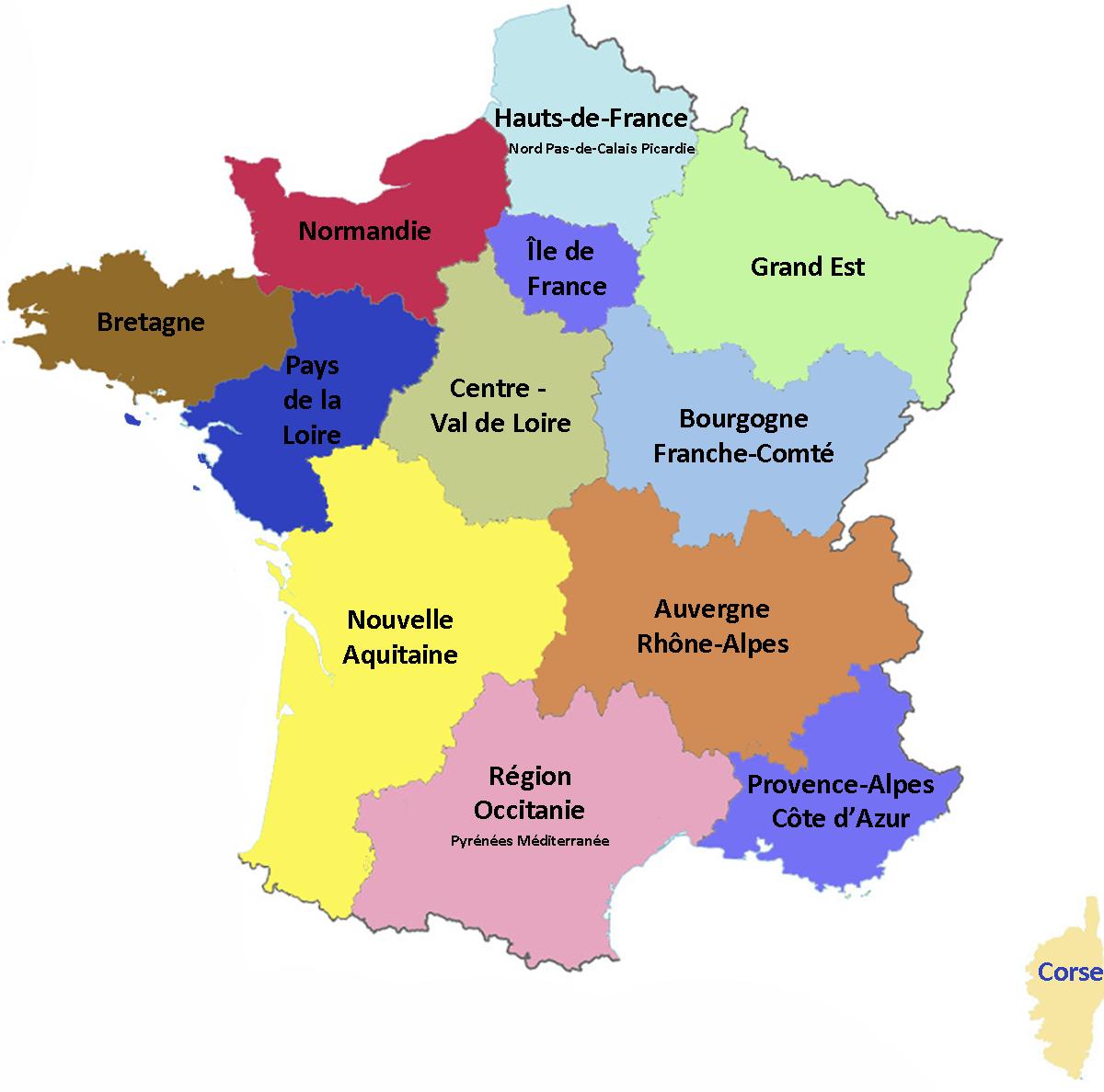 Les Fromages Aoc-Aop De France - Carte Interactive 2018 à Liste Des Régions Françaises