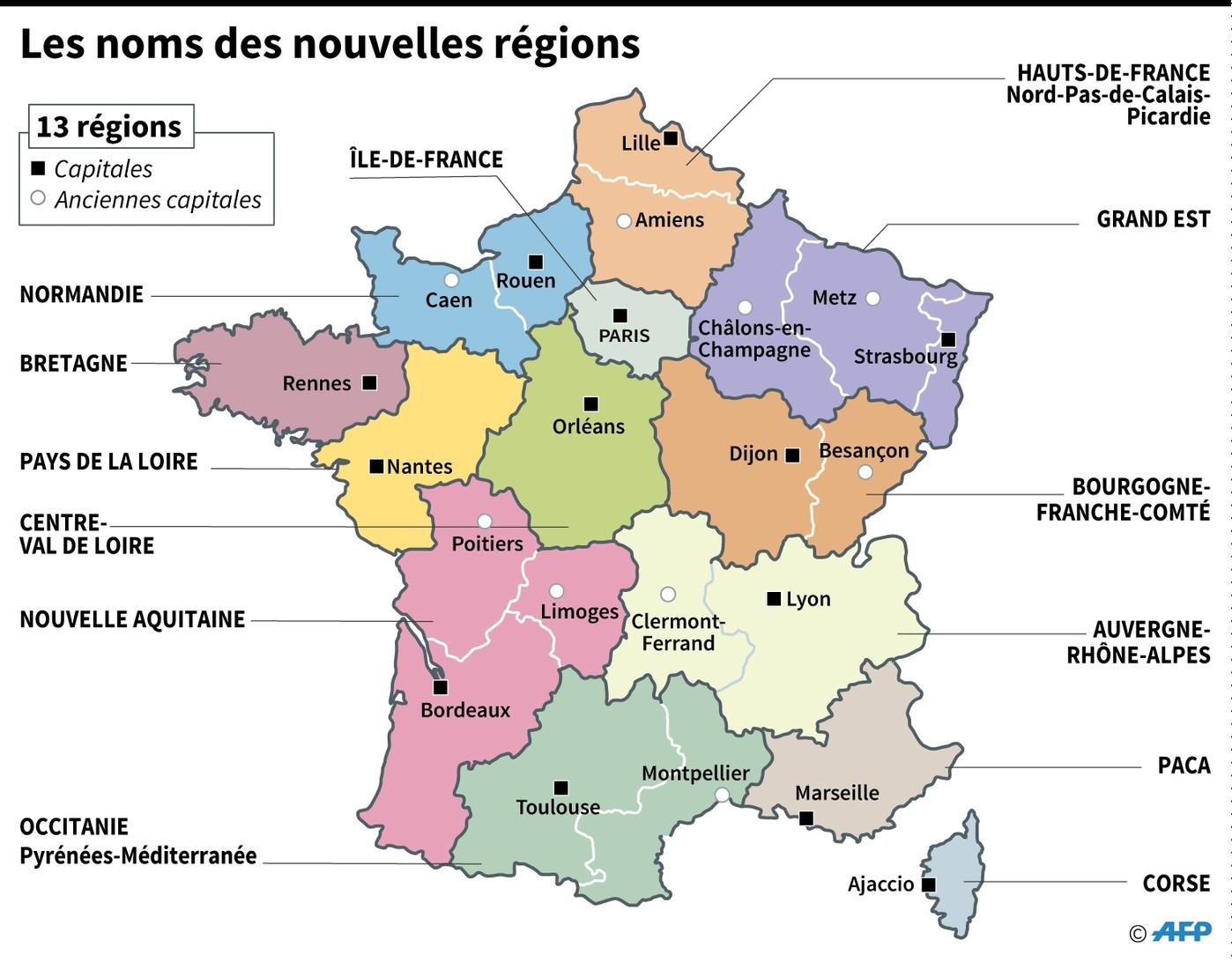 Les Grandes Régions Françaises Ont Toutes Un Nouveau Nom destiné Anciennes Régions