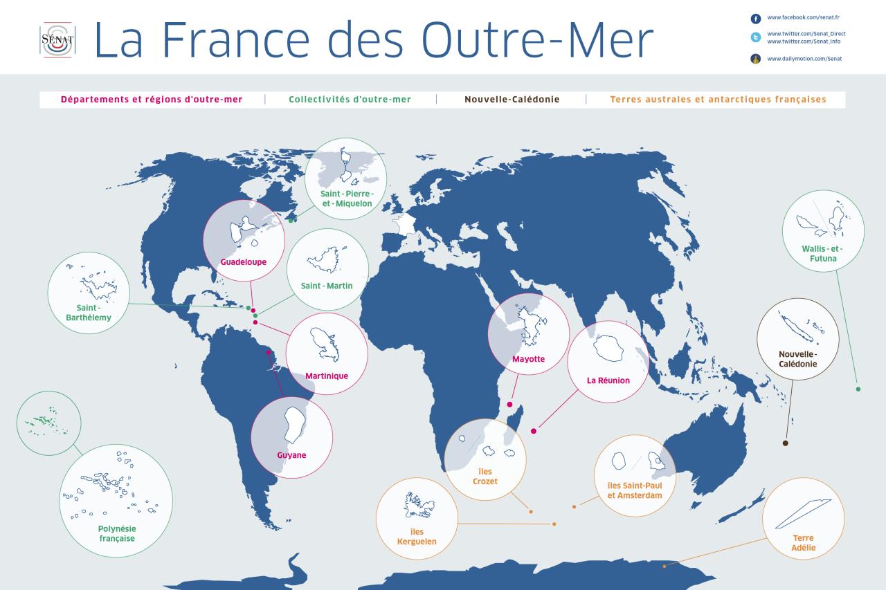 Les Graphies Du Sénat — La France Des Outre-Mer à Carte France D Outre Mer