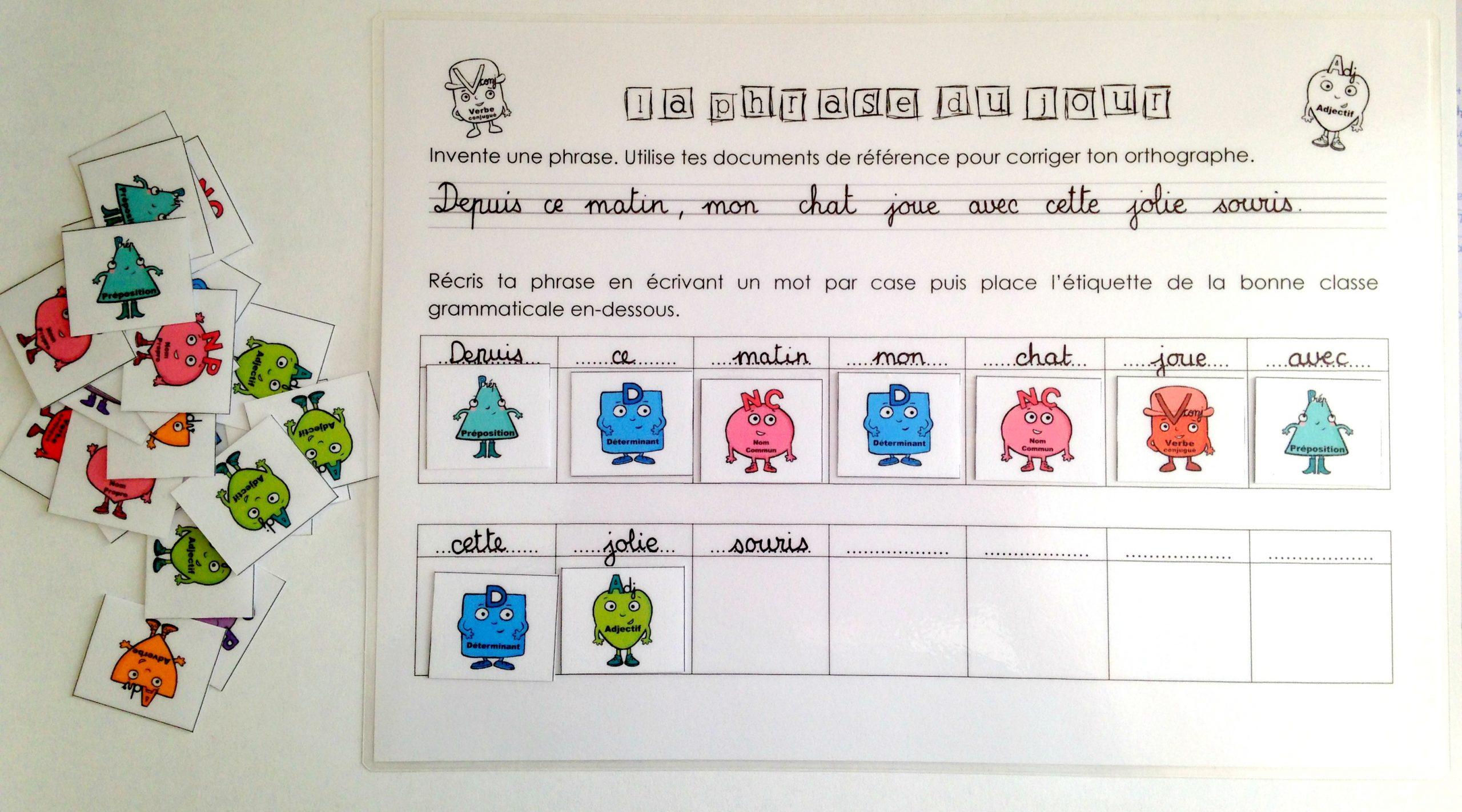 Les Groupes De La Phrase - Jeu D'analyse - Chez Maîtresse Ecline pour Jeux De Maitresse A Imprimer