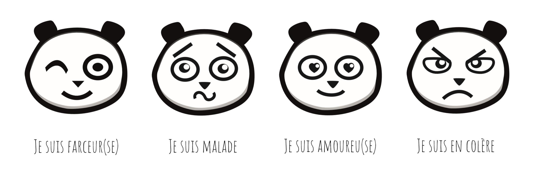 Les Humeurs Du Panda Pour Apprendre Les Émotions En tout Panda À Colorier