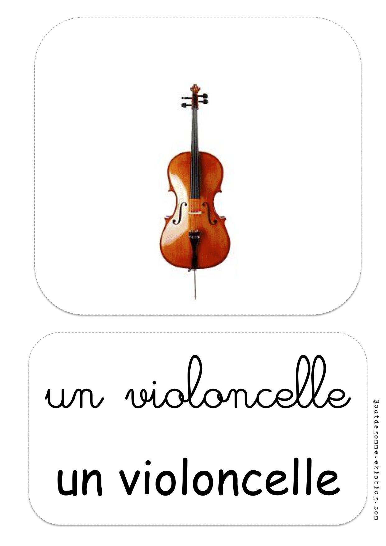 Les Instruments De Musique : Exercices | Bout De Gomme encequiconcerne Image Instrument De Musique À Imprimer