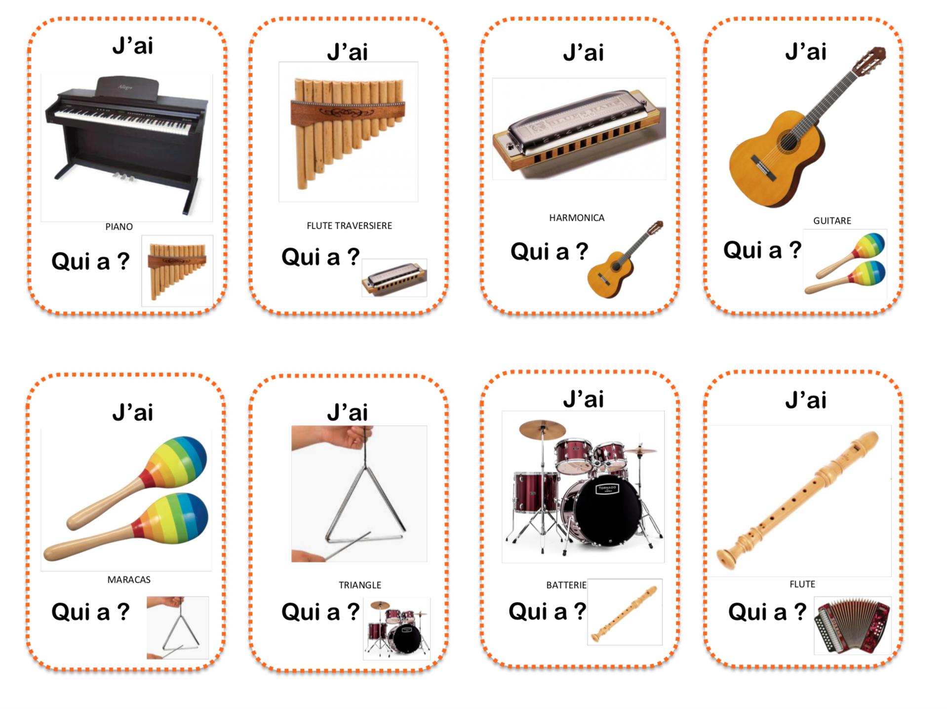 Les Instruments De Musique - La Maternelle De Vivi à Image Instrument De Musique À Imprimer