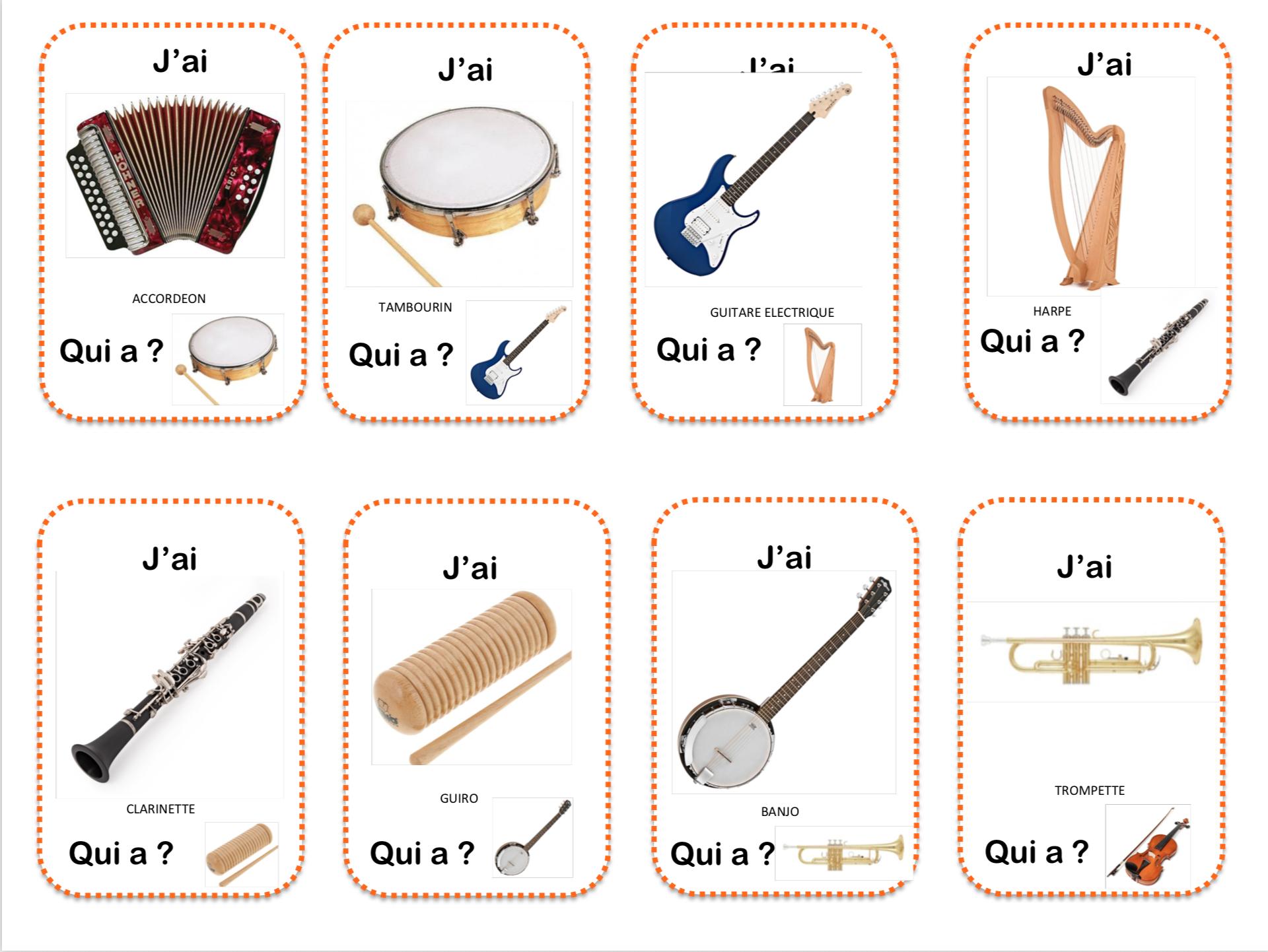 Les Instruments De Musique - La Maternelle De Vivi intérieur Jeu D Instruments