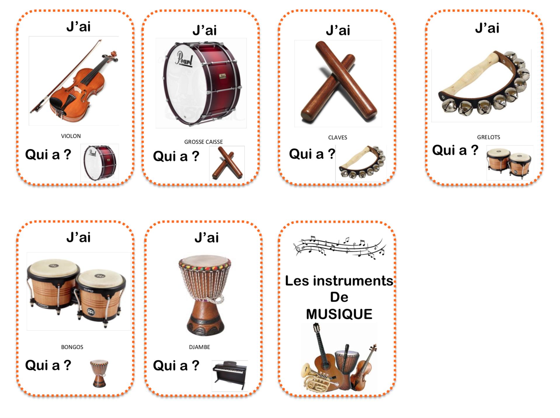 Les Instruments De Musique - La Maternelle De Vivi serapportantà Image Instrument De Musique À Imprimer