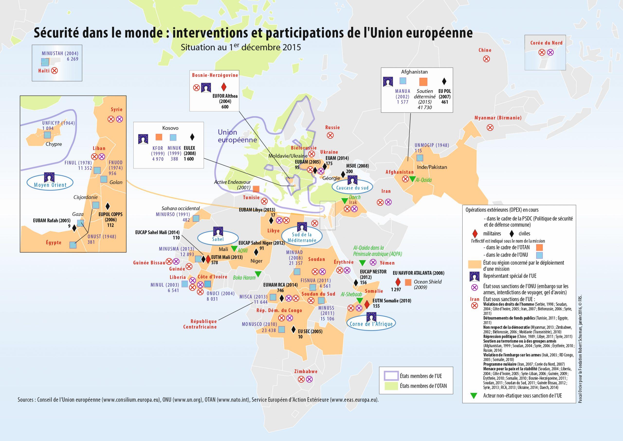 Les Intérêts Stratégiques De L'union Européenne à Carte Construction Européenne
