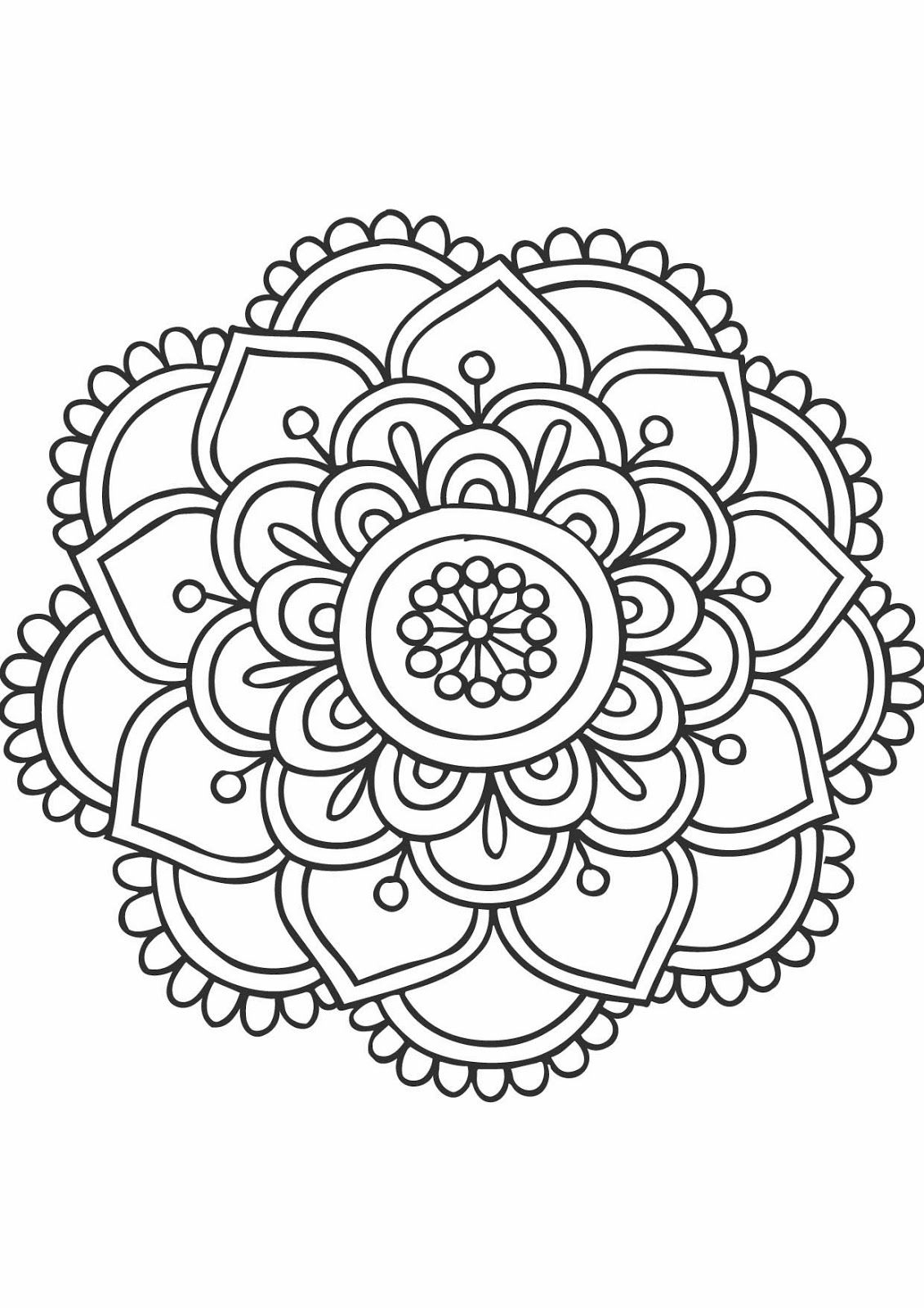 Les Lectures De Carol: Les Mandalas | Mandala Coloring Pages destiné Mandala À Imprimer Facile