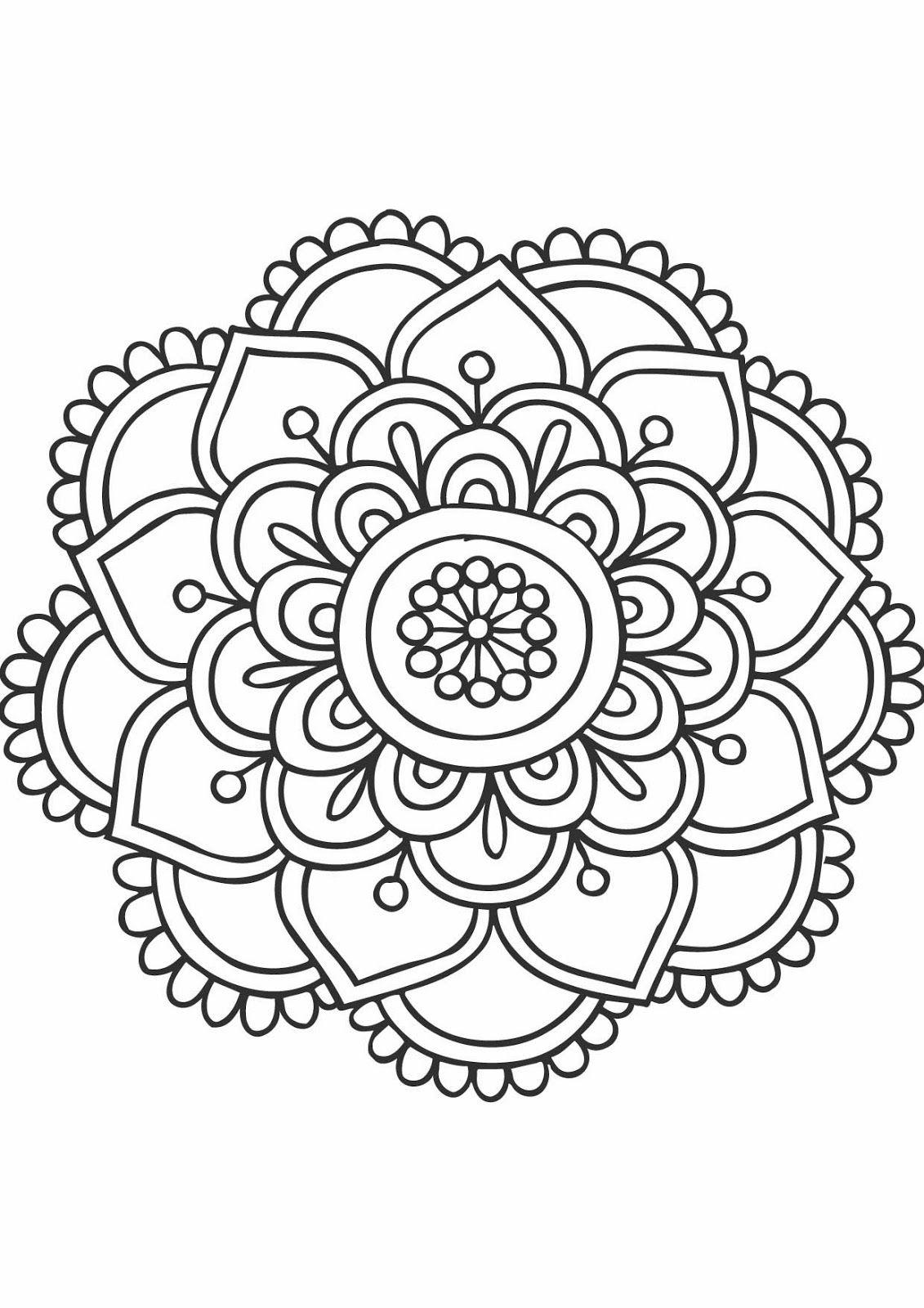 Les Lectures De Carol: Les Mandalas | Mandala Coloring Pages serapportantà Mandala Facile À Imprimer