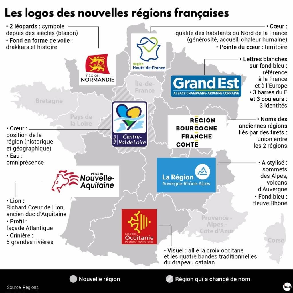Les Logos Des Nouvelles Régions Françaises - Boursorama à Les Nouvelles Regions