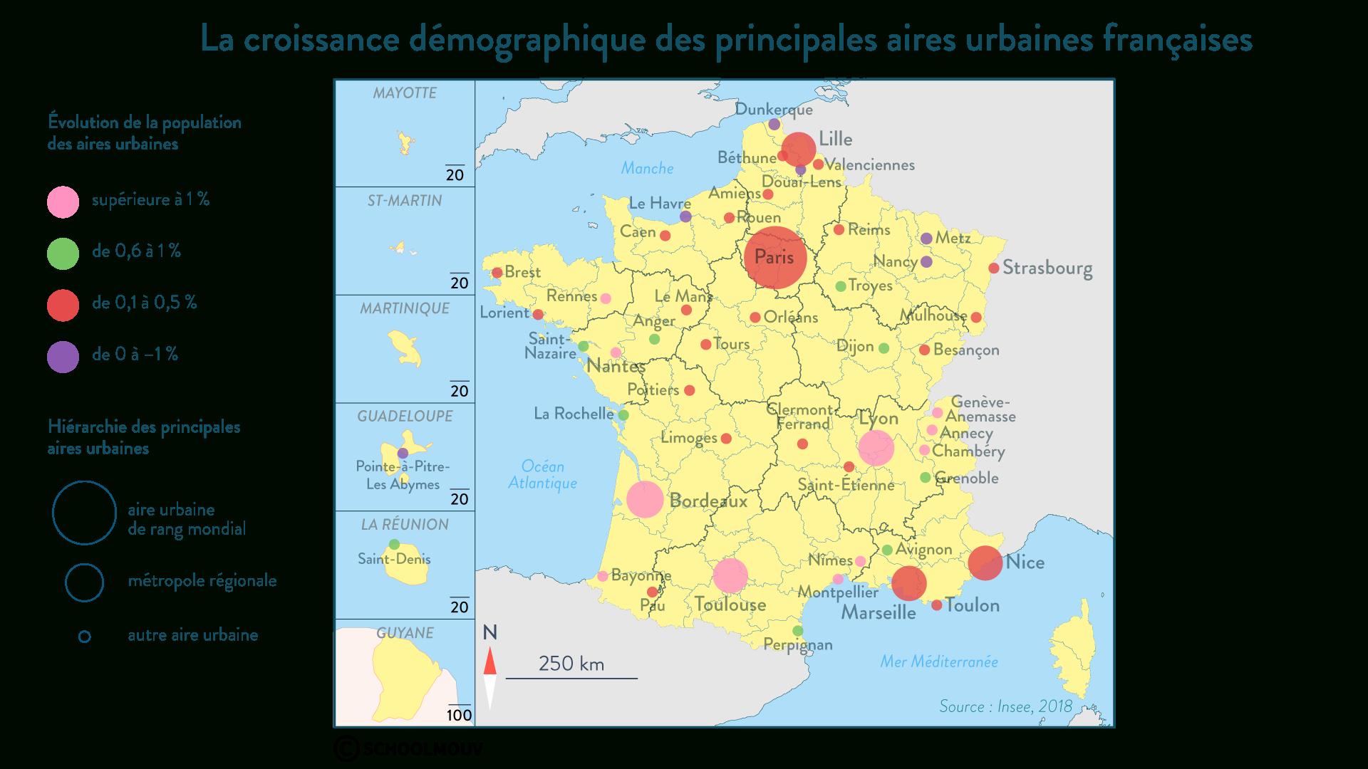 Les Métropoles Françaises : Fiche De Cours - Géographie à Apprendre Les Régions De France