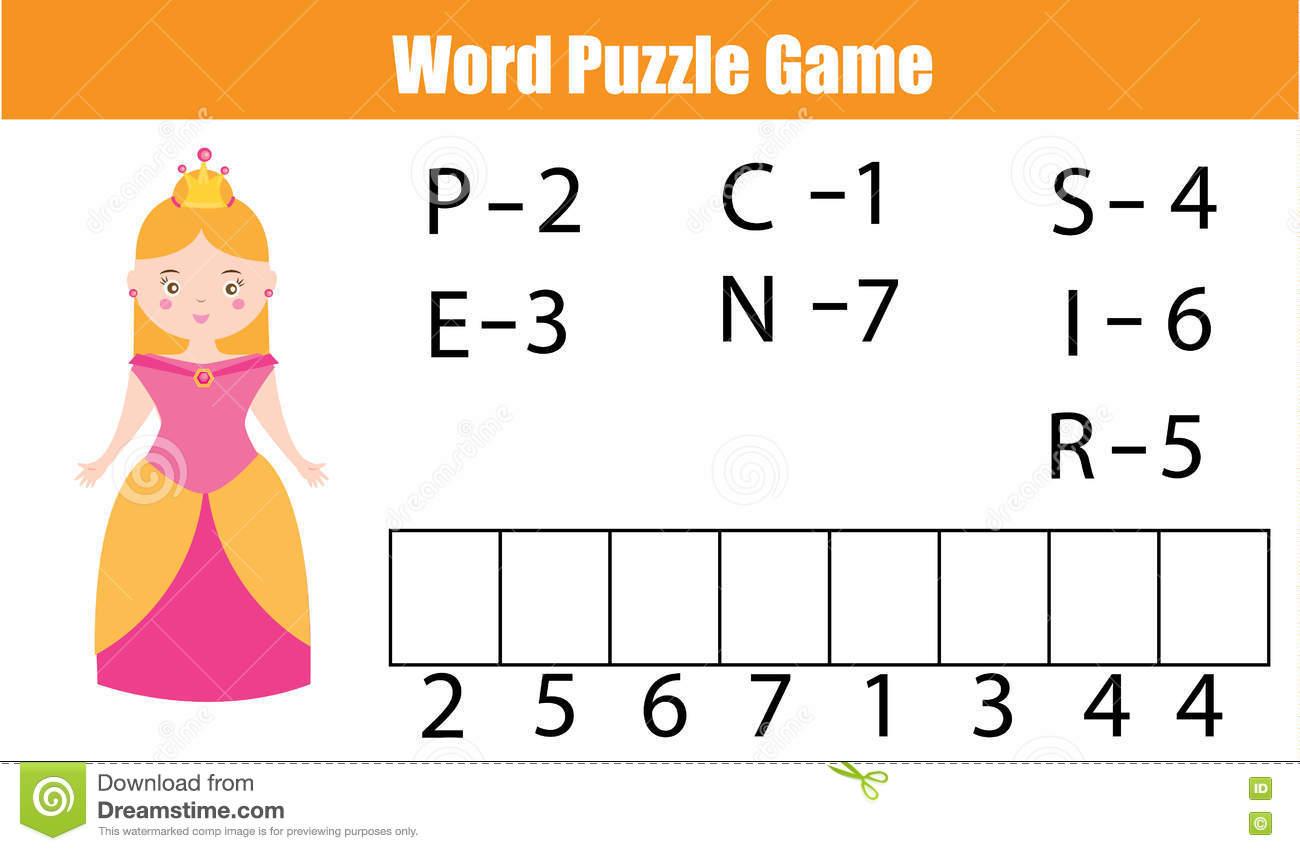 Les Mots Déconcertent Le Jeu Éducatif D'enfants Avec Le Code encequiconcerne Jeux Avec Des Nombres