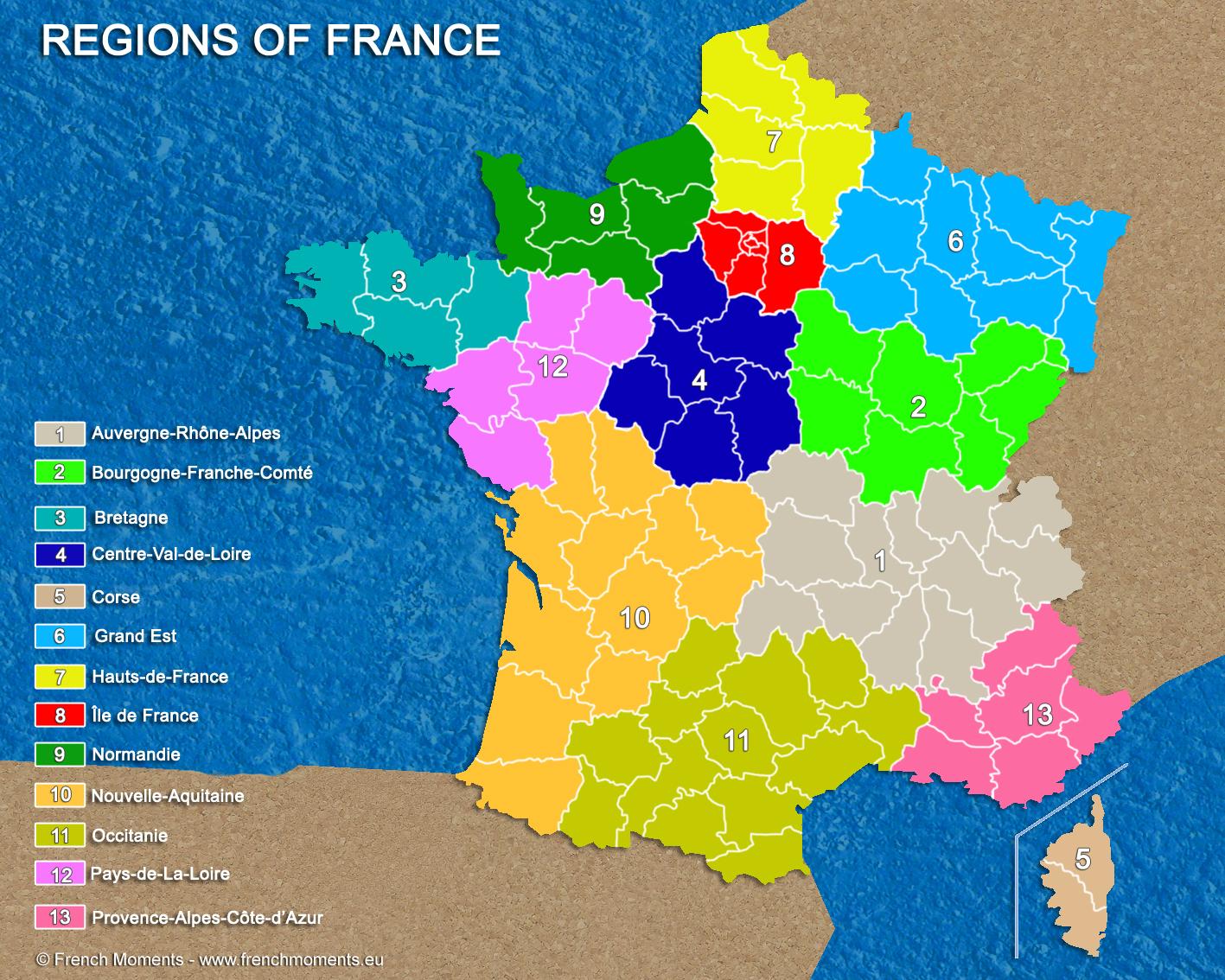 Les Noms Des 13 Nouvelles Régions De France | Un Français En destiné Nouvelles Régions En France