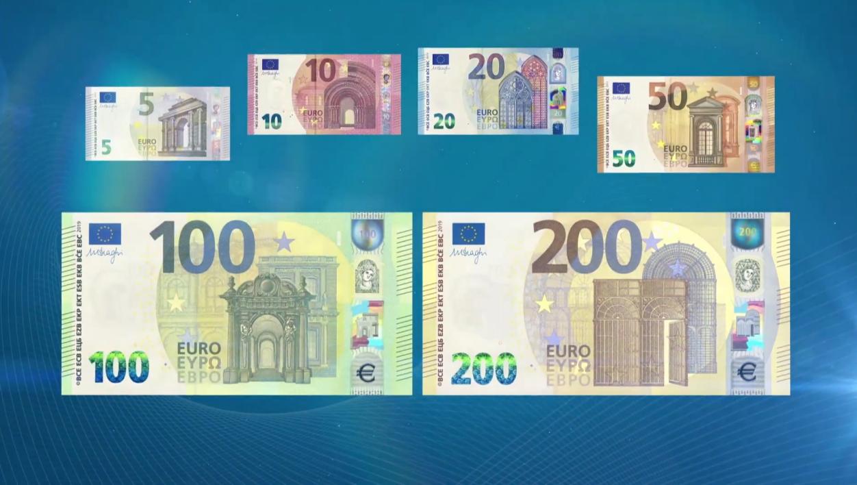 Les Nouveaux Billets De 100 Et 200 Euros Dévoilés tout Billet Euro A Imprimer