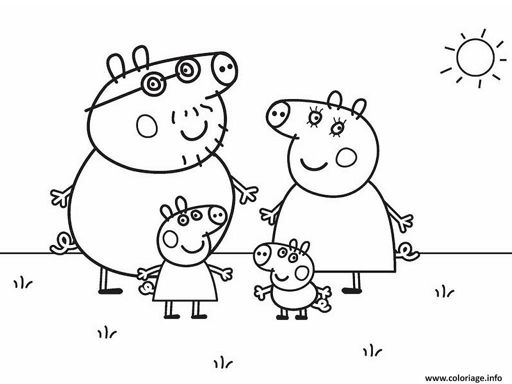Les Nouveaux Coloriages De Peppa Pig Sont Arrivés - Imprimer intérieur Coloriage A4 Imprimer Gratuit