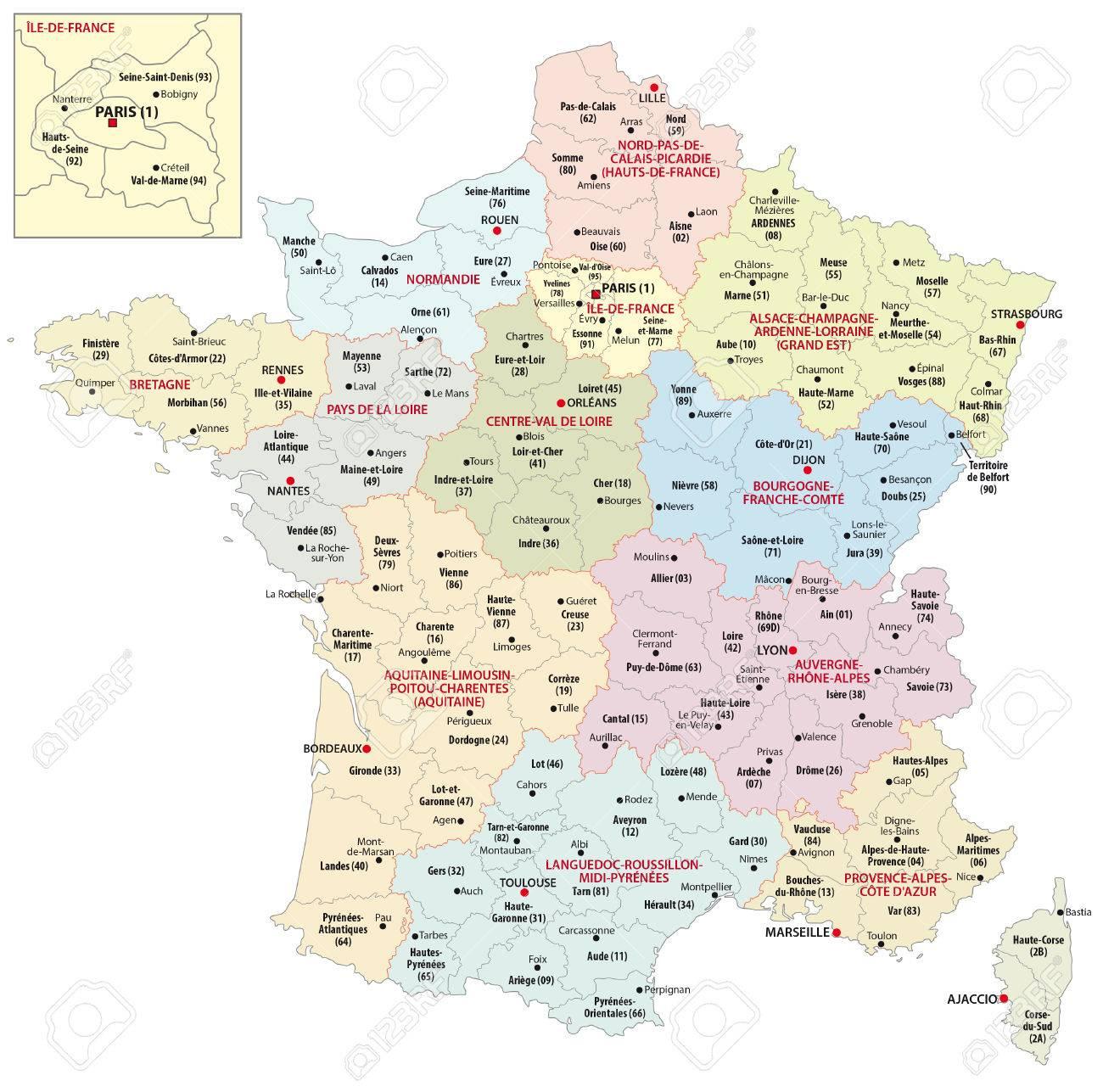 Les Nouvelles Régions De France Depuis 2016 destiné Nouvelles Régions De France 2016