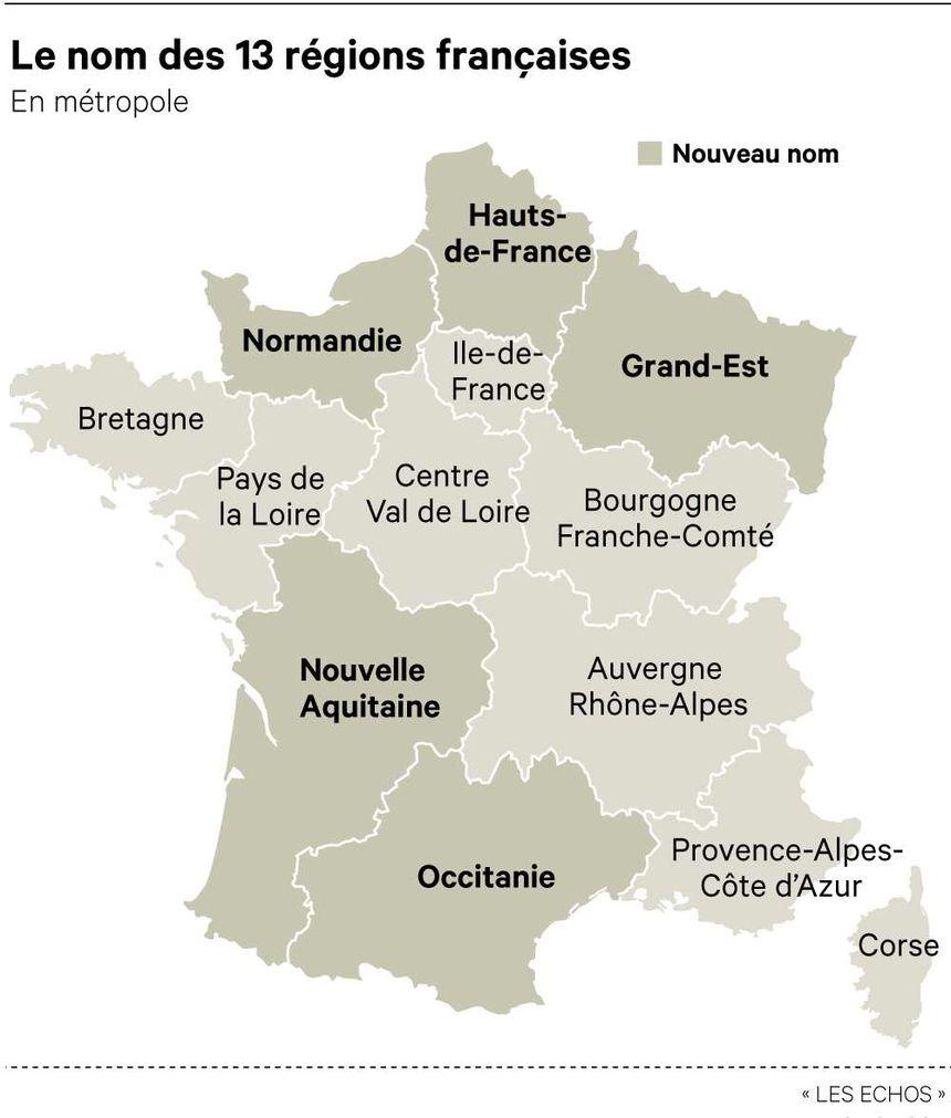 Les Nouvelles Régions De France Ont Toutes Un Nouveau Nom avec Les Nouvelles Régions De France