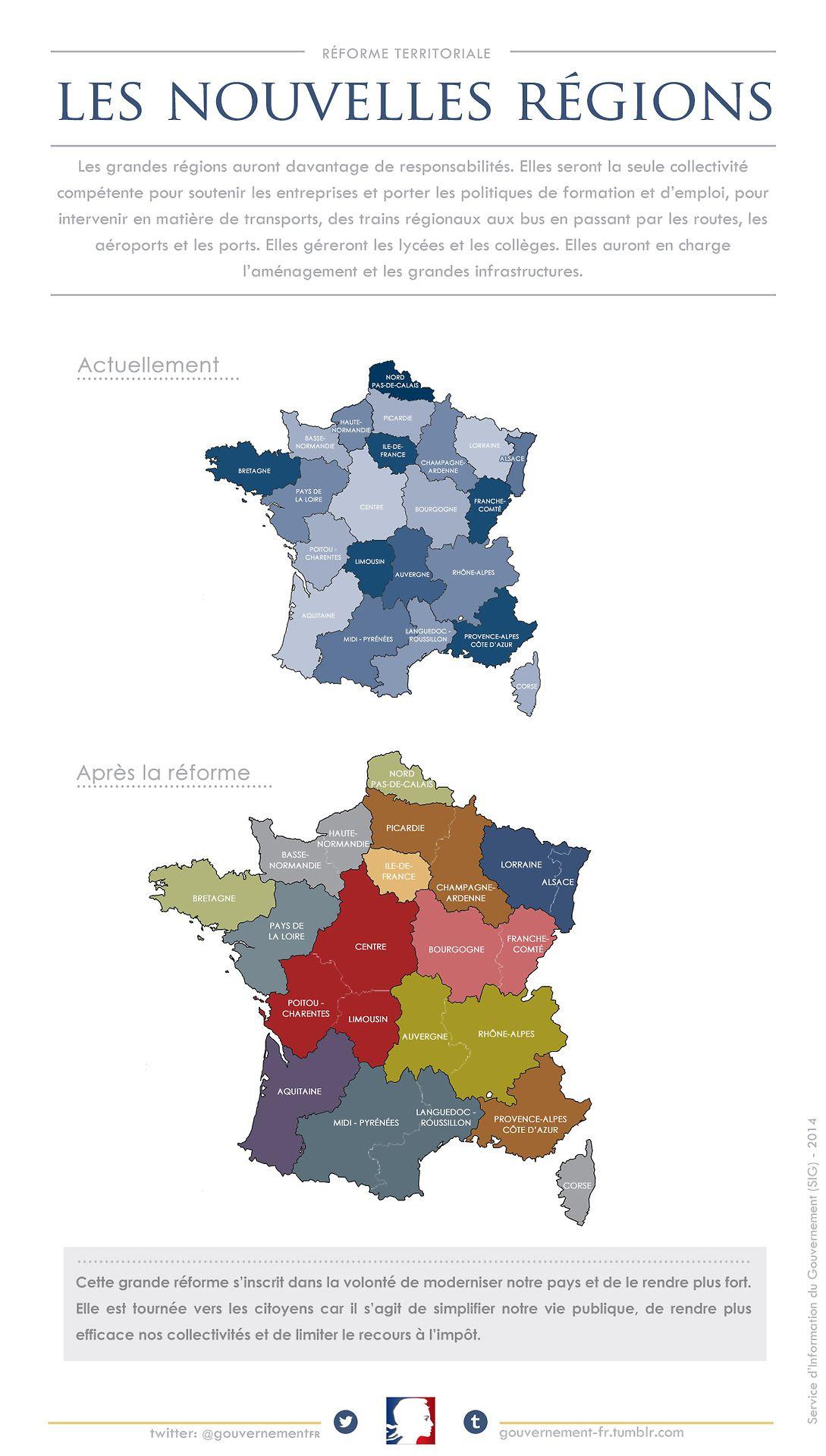 Les Nouvelles Regions De La France | Géographie, Carte Des intérieur Les Nouvelles Regions