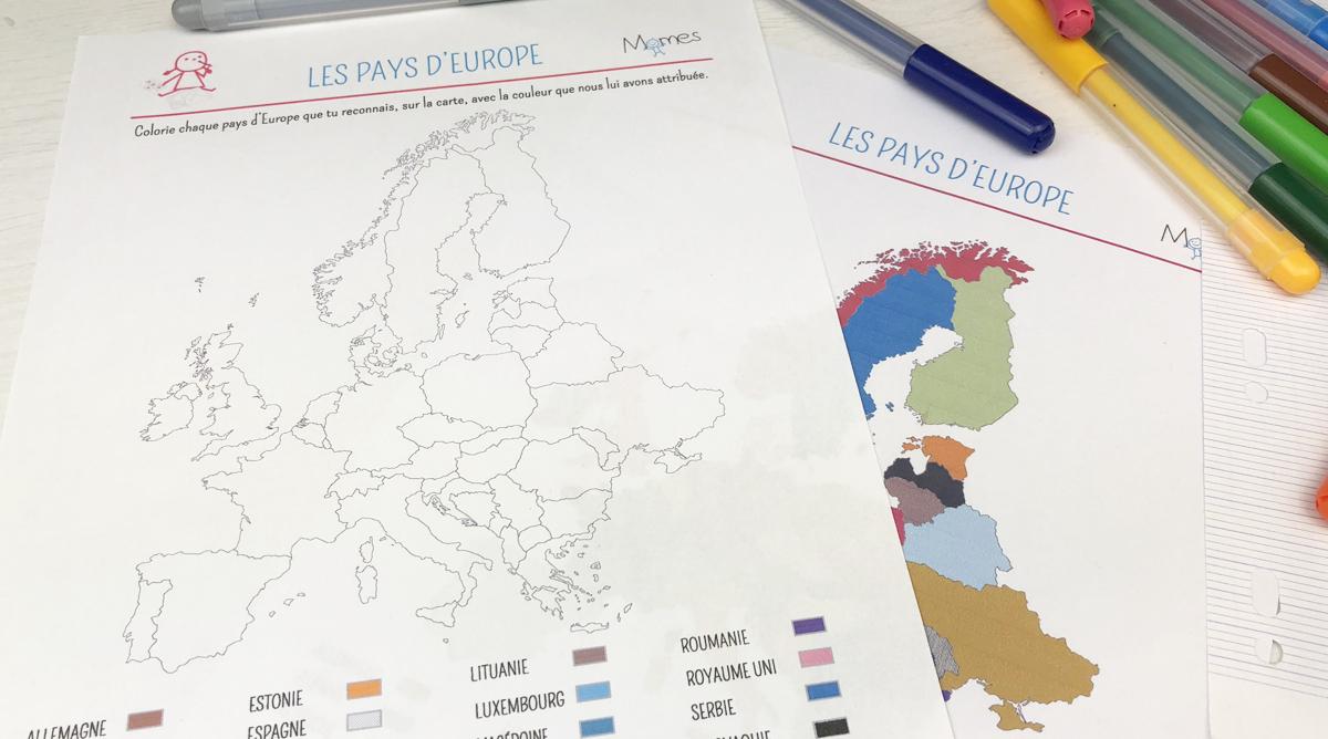 Les Pays D'europe - Carte À Colorier - Momes tout Apprendre Pays Europe