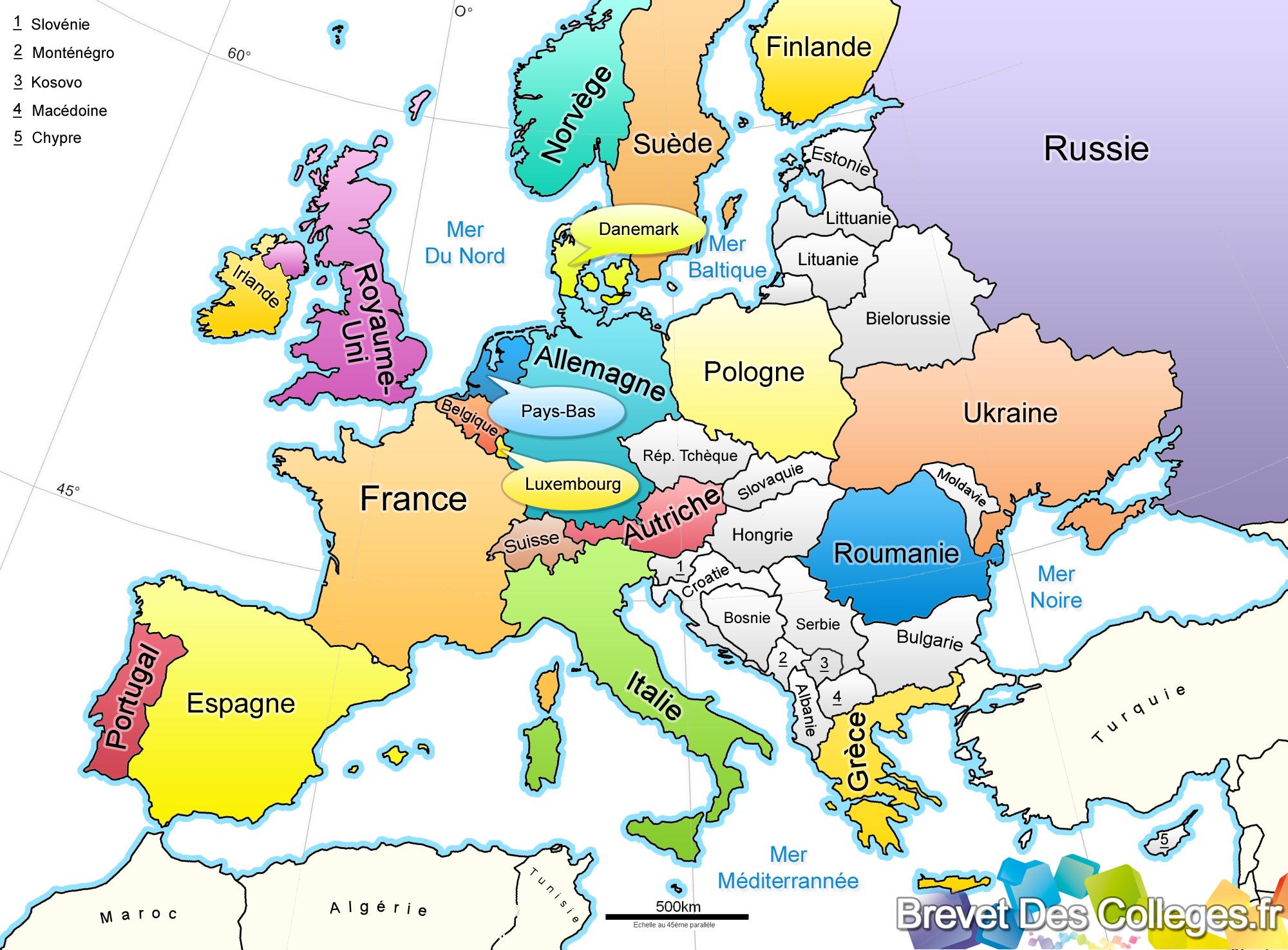 Les Pays D'europe destiné Pays Et Capitales Union Européenne