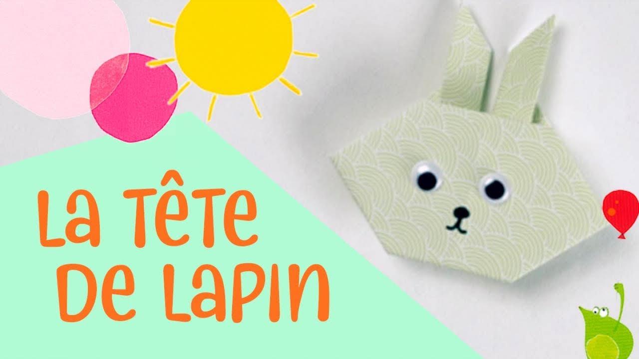 Les Petits Pliages De Suzanne - Le Lapin - Origami Facile Pour Enfants tout Pliage Papier Enfant