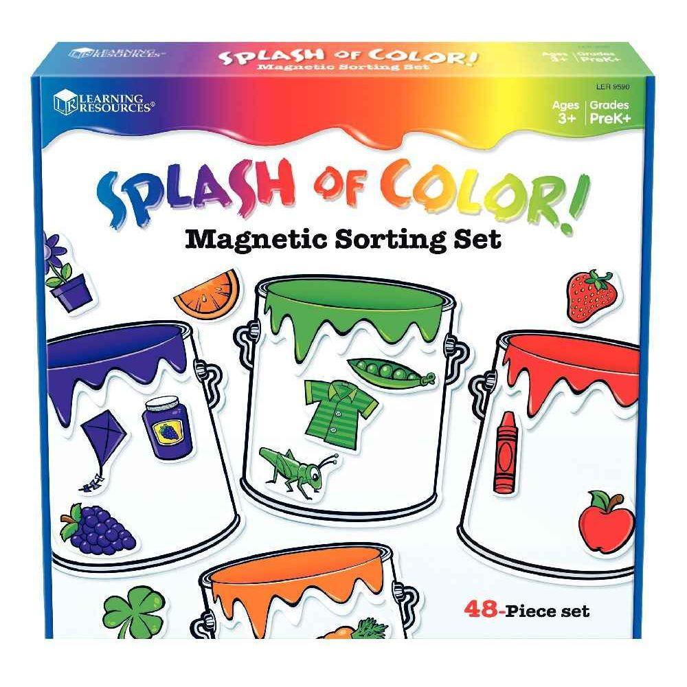 Les Pots De Peintures Magnétiques - Learning Resources concernant Apprendre Les Couleurs En Maternelle