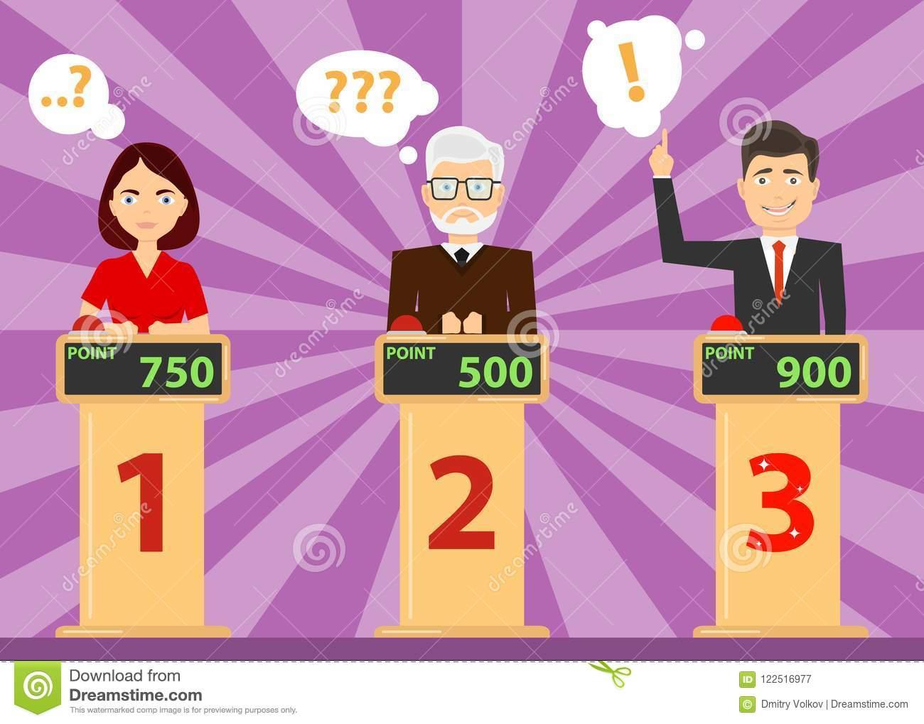 Les Questions De Jeu-Concours De Réponse De Personnes Et serapportantà Question Reponse Jeu