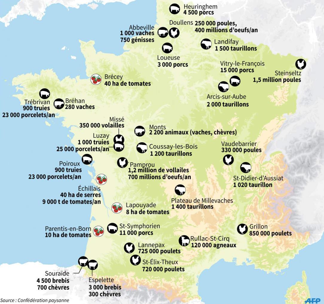 Les Raisons De Notre Mobilisation Contre La Ferme-Usine De tout Carte De France Pour Les Enfants