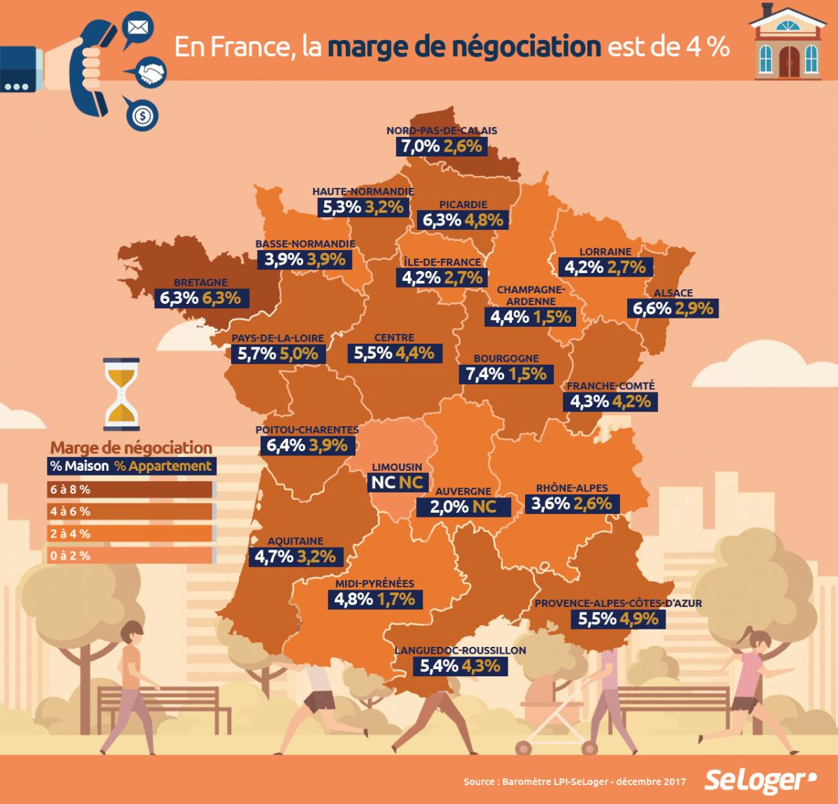 Les Régions Où Les Prix Immobiliers Ont Été Le Plus (Et Le serapportantà Carte Région France 2017