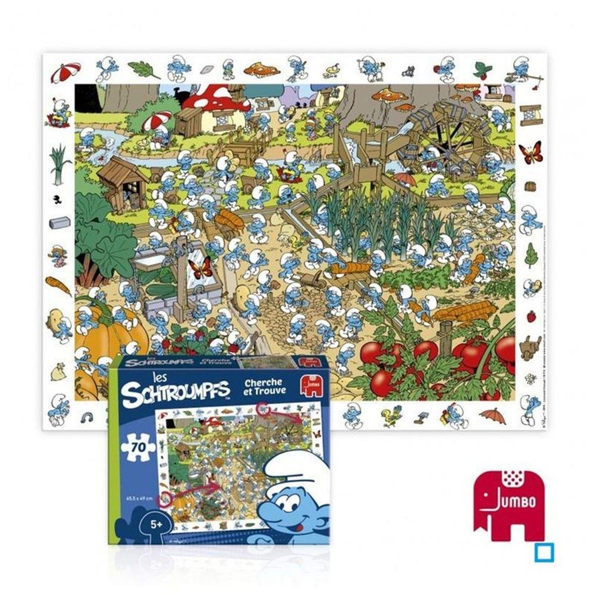 Les Schtroumpfs - Puzzle 70 Pièces - Dis41034 - Taille à Puzzle En Ligne Enfant