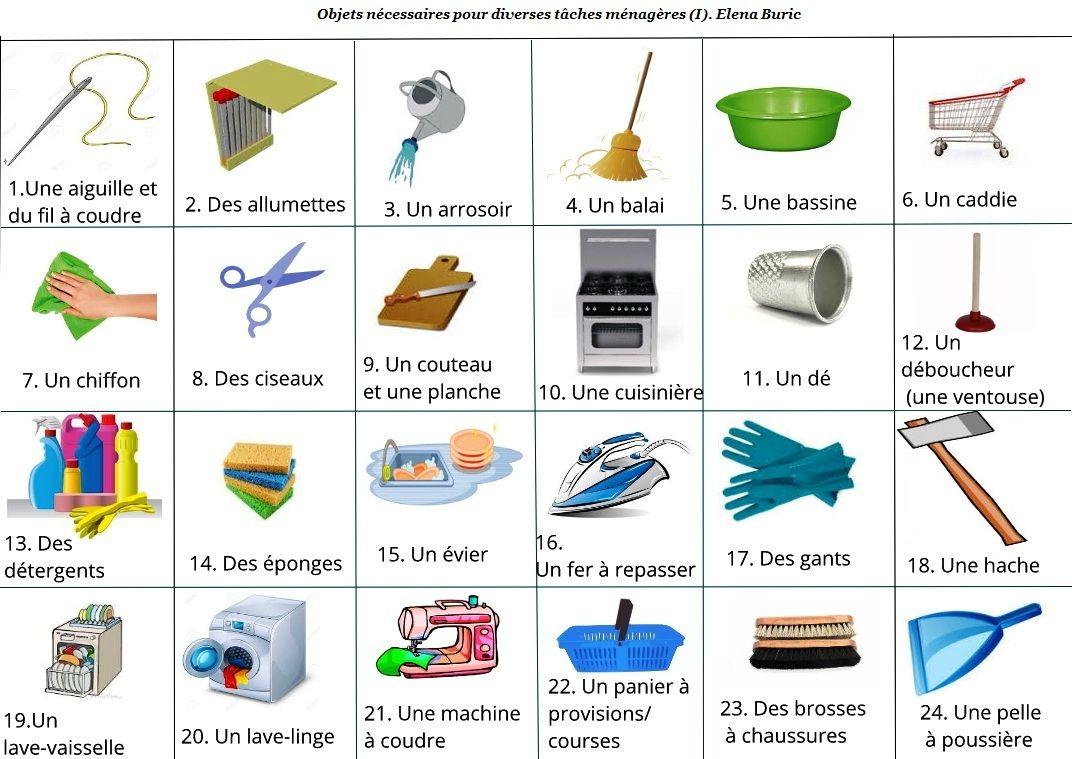 Les Tâches Ménagères Activités En Ligne, Imagiers, Bd dedans Imagier Bébé En Ligne