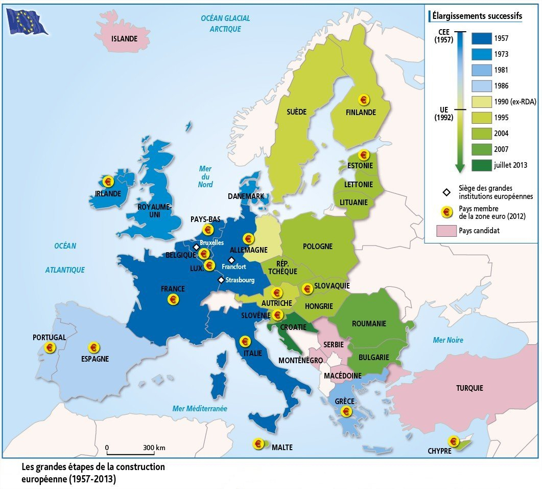 Les Territoires De L'union Européenne - Jmgoglin tout Carte Construction Européenne