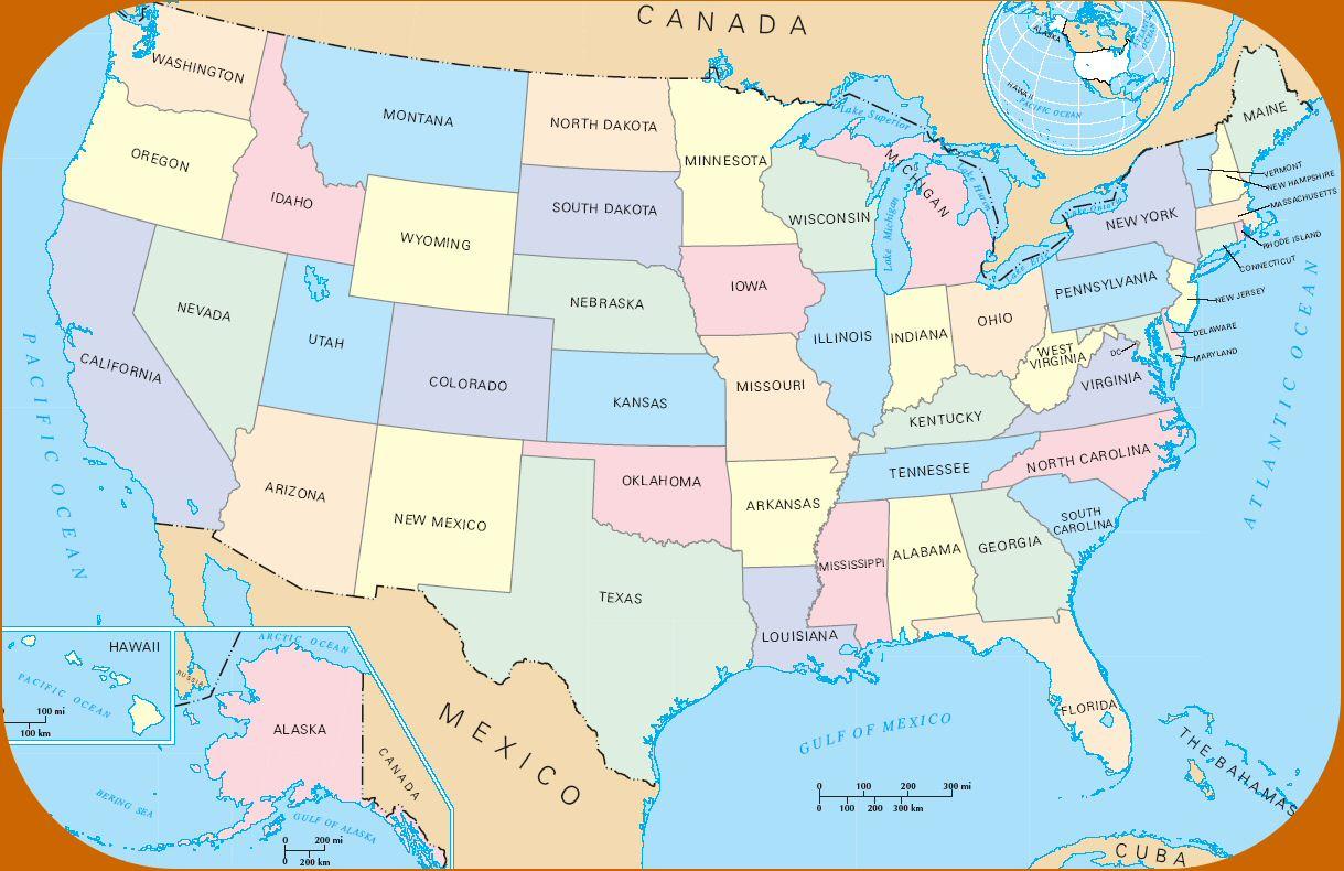 Les Timbres-Monnaie Américains (Etats-Unis D'amérique) serapportantà Carte Etat Amerique