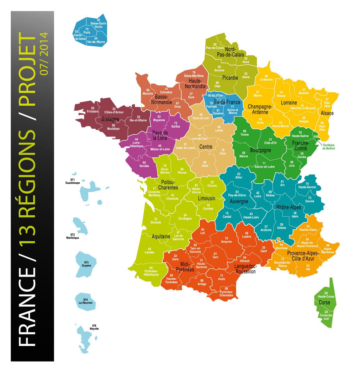 Les Treize Nouvelles Régions Auront Moins De Disparités serapportantà Carte Des Nouvelles Régions