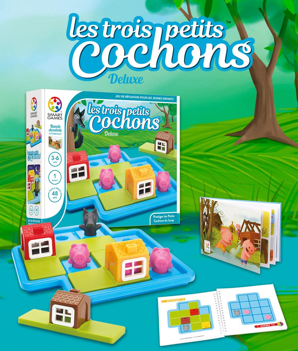 Les Trois Petits Cochons - Smartgames pour Jeux De Petit Garçon De 3 Ans