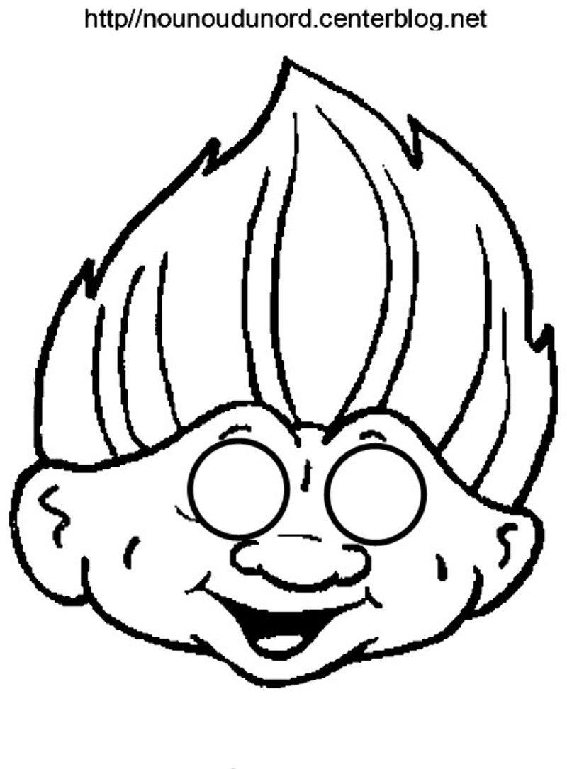 Les Trolls, Poppy Et Branche Masque À Imprimer | Masque A dedans Masque Enfant A Colorier