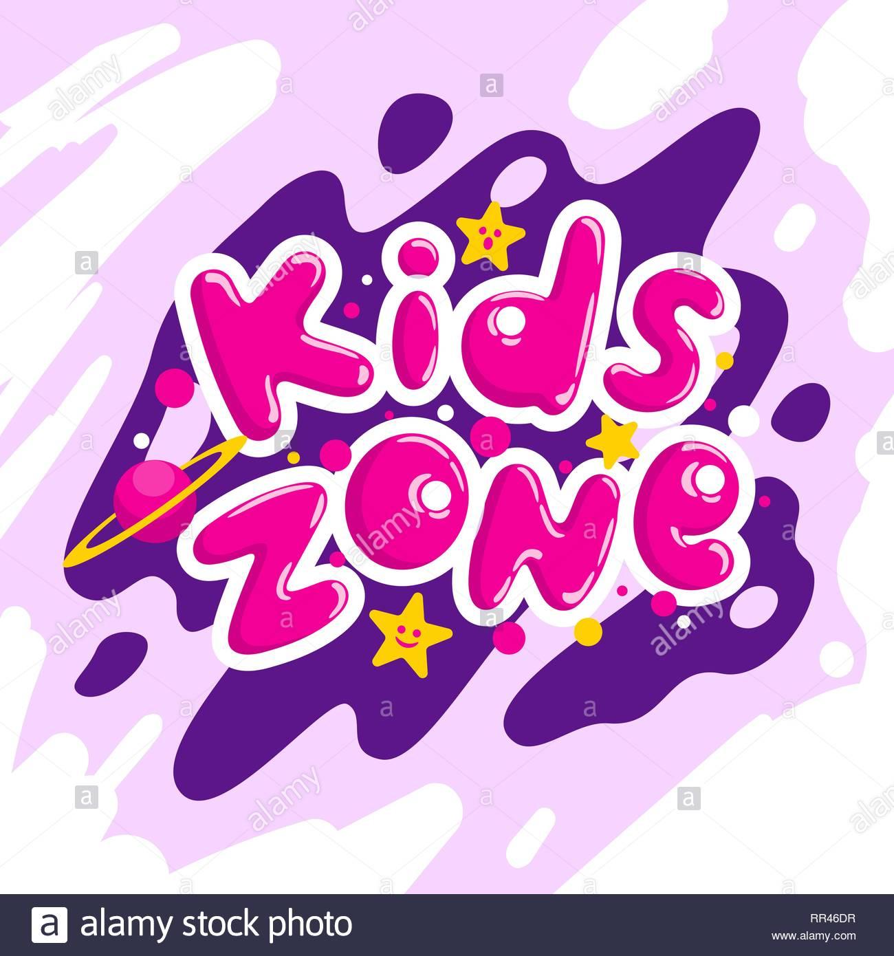 L'espace Enfants Vector Cartoon Logo. Bulle Colorée Pour Les pour Jeux De Lettres Enfants